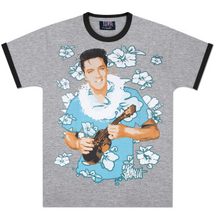 Elvis Blue Hawaii Hibiscus T-Shirt