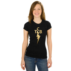 Elvis TCB Foil Ladies T-Shirt