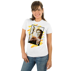 Elvis Early Mic Ladies T-shirt