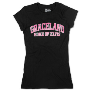 Elvis Graceland Home Ladies T-shirt