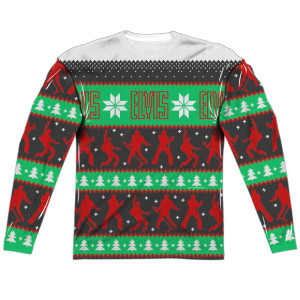 Elvis Ugly Christmas Long Sleeve T-Shirt