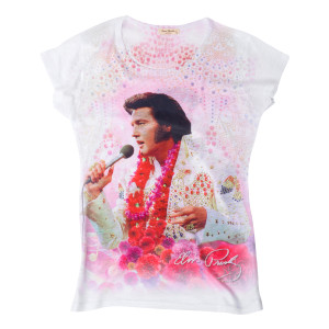 Elvis Aloha Ladies T-shirt
