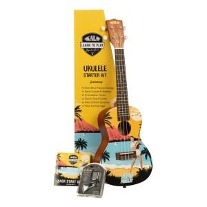 Elvis Blue Hawaii Concert Ukulele Starter Kit