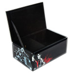 Elvis Black Glass Music Box