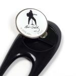 Elvis Silhouette Divot Tool w/Ball Marker