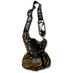 Elvis Guitar Hand Bag - Gold Zebra Print
