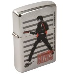Elvis Joe Petruccio Brushed Chrome Zippo