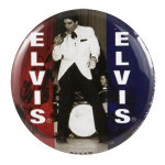 Elvis 50s Black/White Button