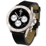 TCB Lucky Horseshoe Chronograph Watch - Silver