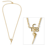 Elvis 18kt Gold Plated TCB Necklace
