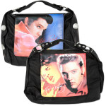 Elvis Black Stare Hobo Bag