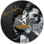Elvis Lives Vinyl Wall Clock