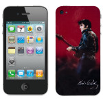 Elvis Leather iPhone 4 Skin