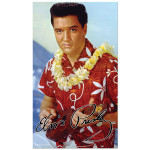 Elvis Blue Hawaii Ukulele Beach Towel