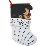 Elvis White Jumpsuit Appliqué Stocking