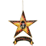 Elvis Burning Love Magnetic Star Ornament