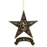 Elvis Love Me Tender Magnetic Star Ornament
