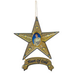 Elvis Heart of Gold Magnetic Star Ornament