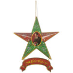 Elvis With Love Magnetic Star Ornament