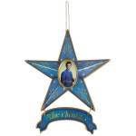 Elvis Blue Christmas Magnetic Star Ornament
