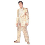 Elvis Gold Lame Fridge Magnet
