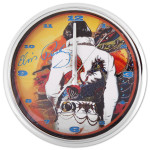 Elvis Dragon Chrome Clock