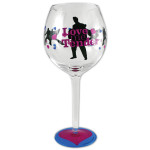 Elvis Love Me Tender Wine Glass