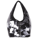 Elvis Crystal Collage Hobo Bag