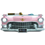 Elvis Pink Cadillac 3D Wall Shelf