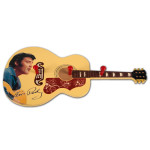 Elvis Wooden Guitar Coat Rack