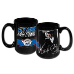 Elvis Presley Airlines 15oz Black Mug