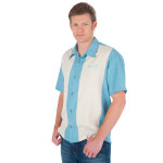 Elvis Blue Hawaii Tiki Button Down Shirt