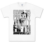 Elvis 35th Anniversary Black & White T-Shirt