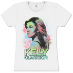 Kelly Clarkson Neon Portrait Juniors Tee