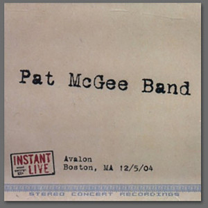 Pat McGee Band Live at Avalon, Boston, MA 12/5/04