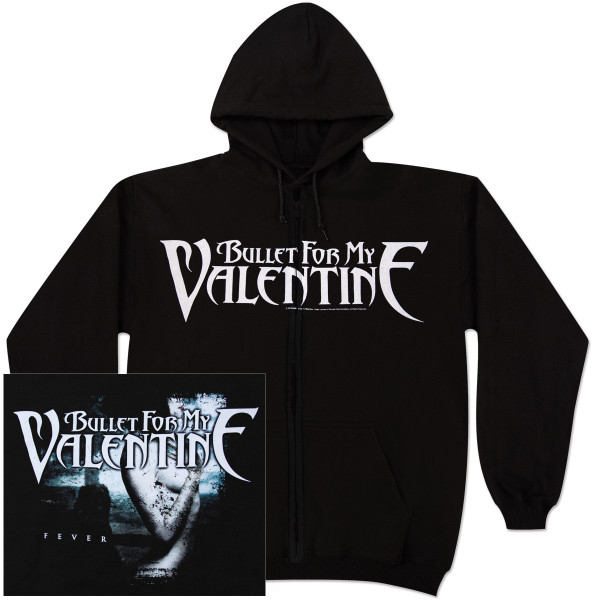 Bullet For My Valentine Logo Zip Hoodie Shop The Musictoday