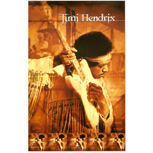 Jimi Hendrix Live At Woodstock Poster   Shop the Musictoday
