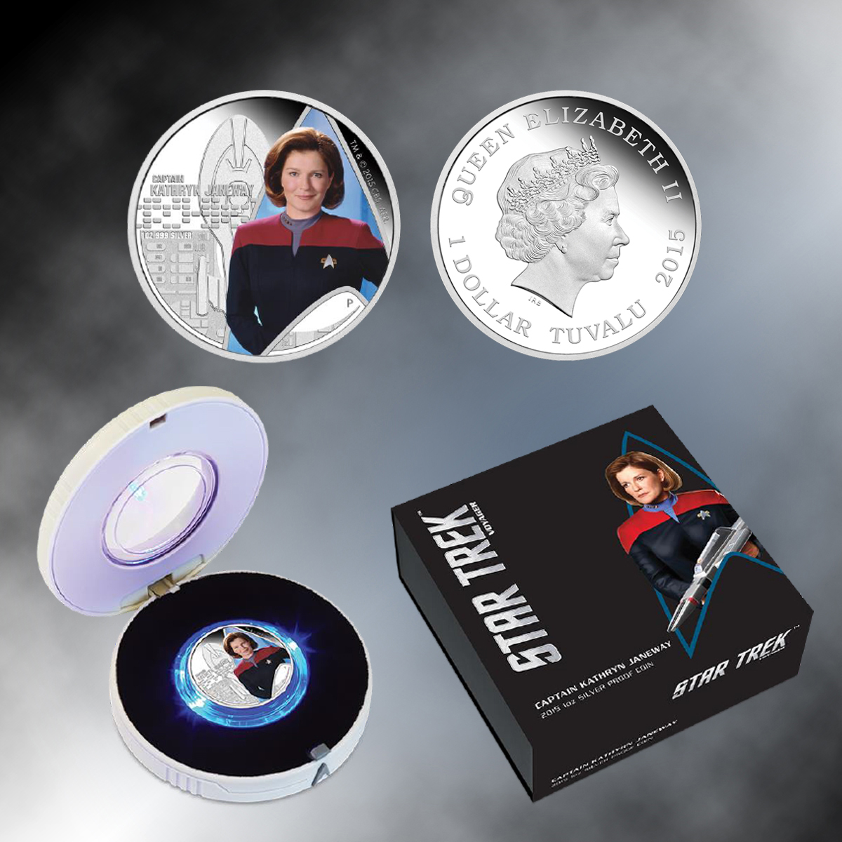 2015 Star Trek Captain Janeway Tuvalu Silver Proof