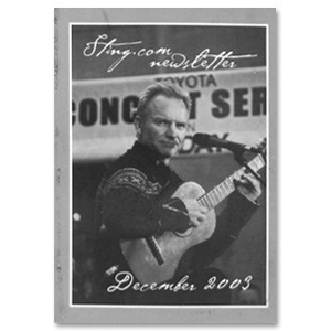 Sting December 2003 Newsletter