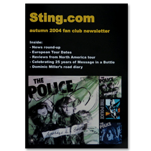 Sting Autumn 2004 Newsletter