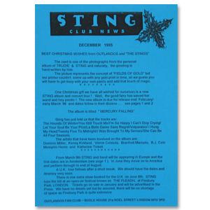 Sting December 1995 Newsletter