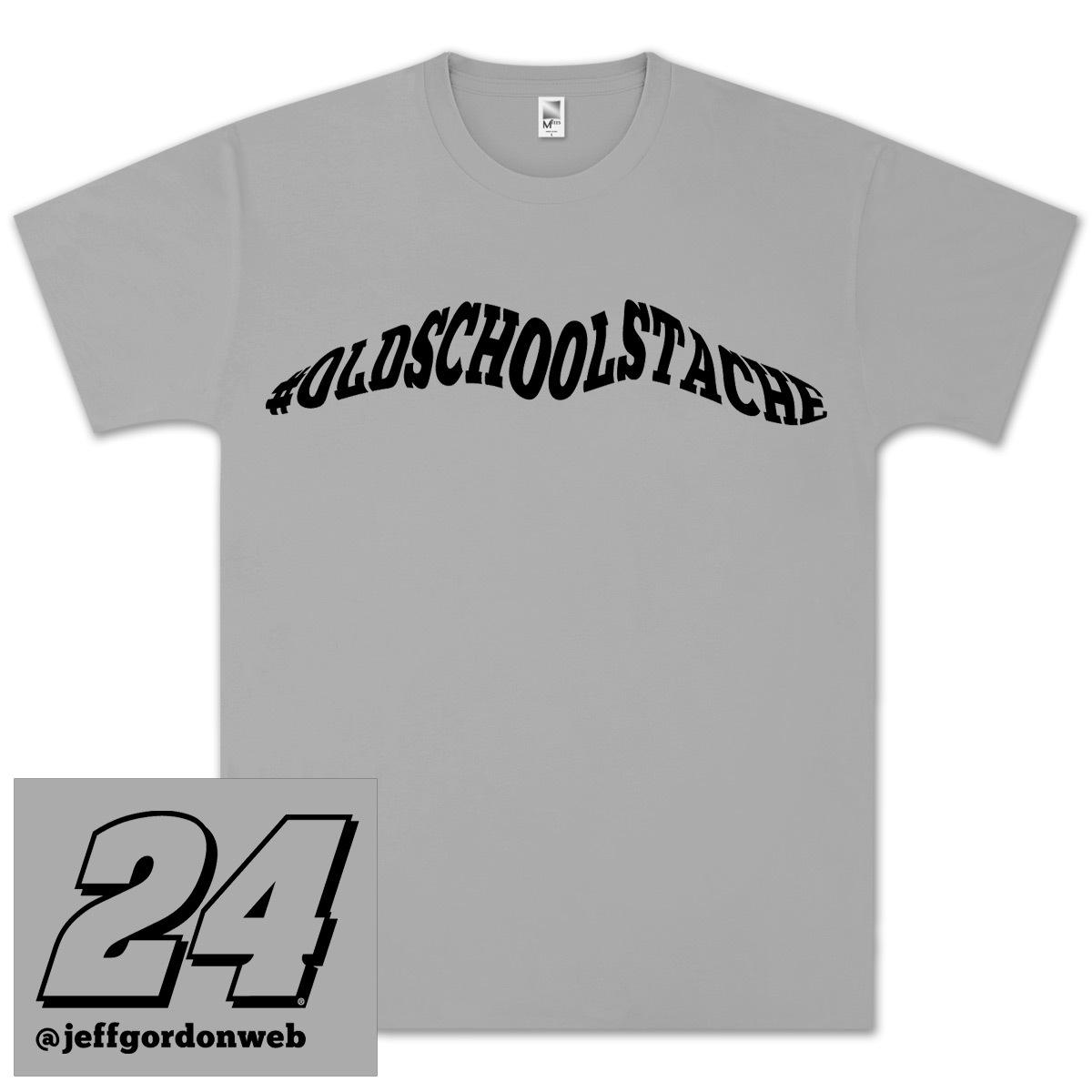 Jeff Gordon #OldSchoolStache T-shirt - EXCLUSIVE!