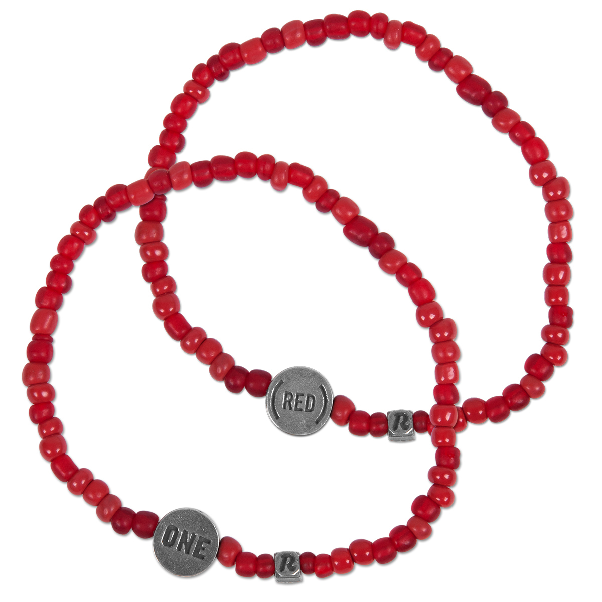 ONE and (RED) Beaded Bracelet