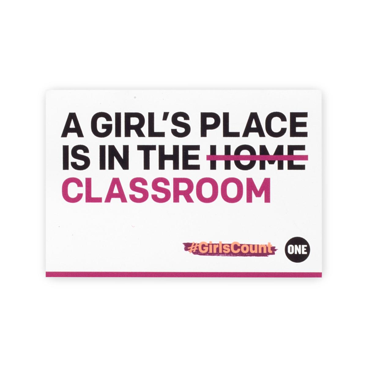 #GirlsCount Sticker