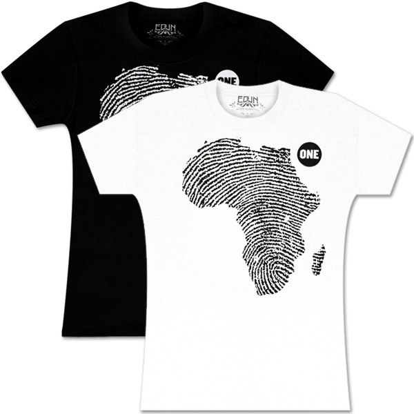 Women's ONE shirt by EDUN: African Thumbprint