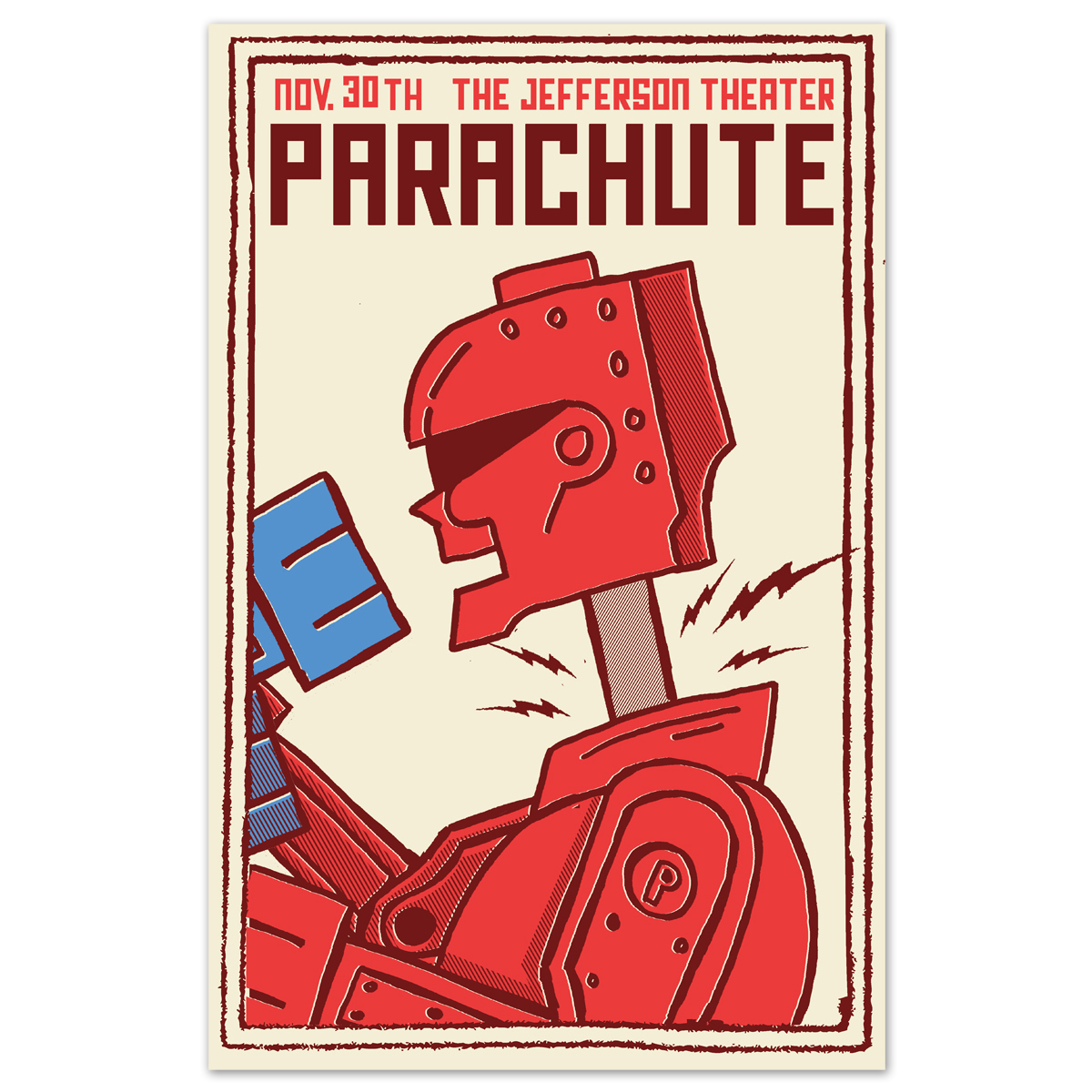 Parachute The Jefferson Theater Red Robot Poster