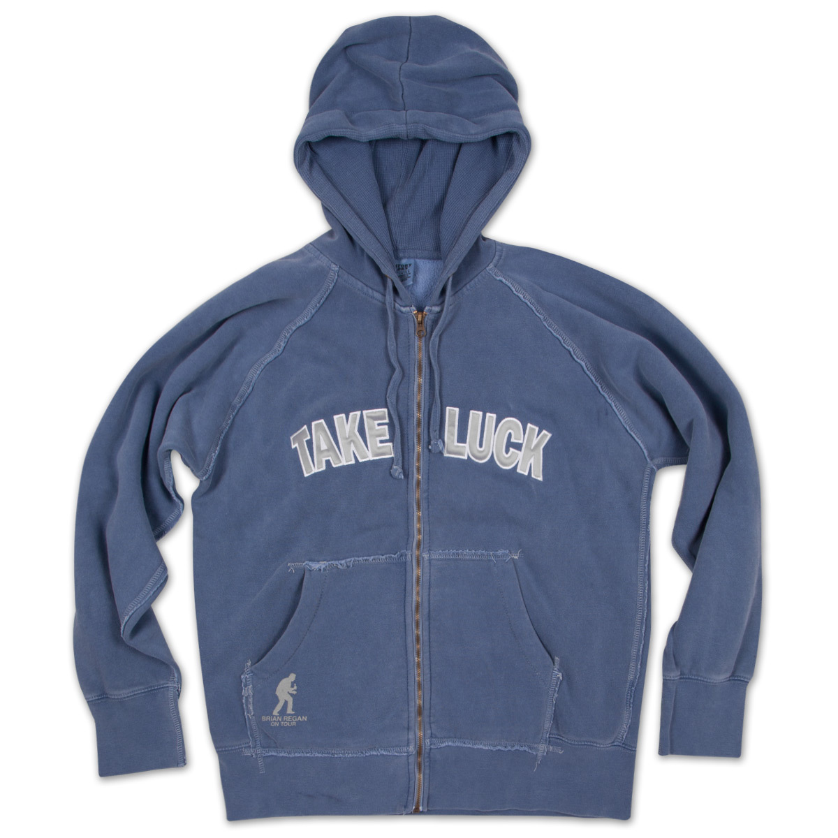 Brian Regan Take Luck Full Zip Blue Hoodie