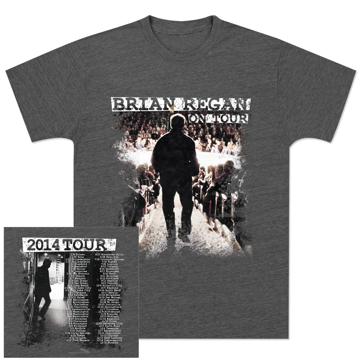 Men's Brian Regan On Tour 2014 T-Shirt