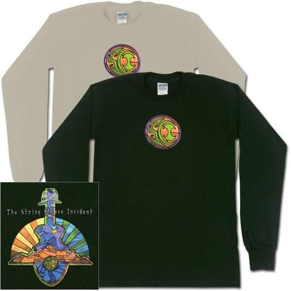 Long Sleeve Glass Guitar T-Shirt