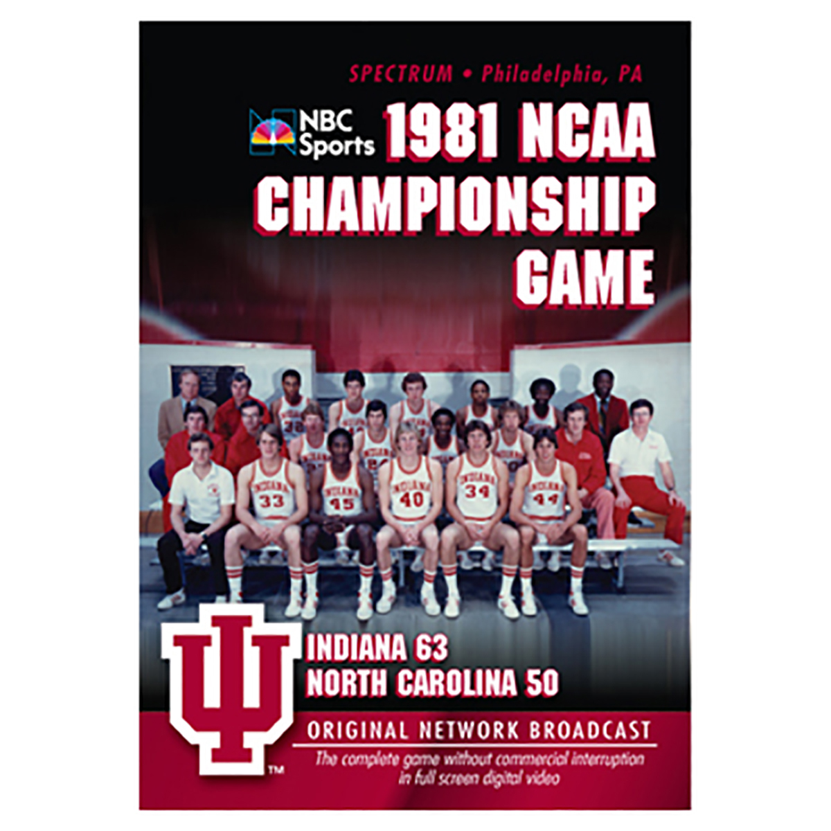1981 NCAA Championship: Indiana vs UNC DVD -  DVDs & Videos 1820-42931